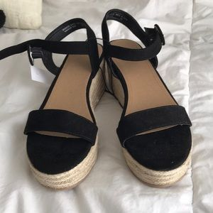 LOFT black espadrille sandals